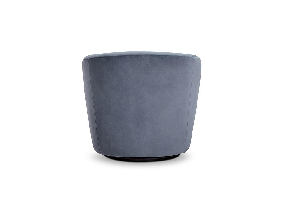 Darian Light Gray Velvet Swivel Accent Chair