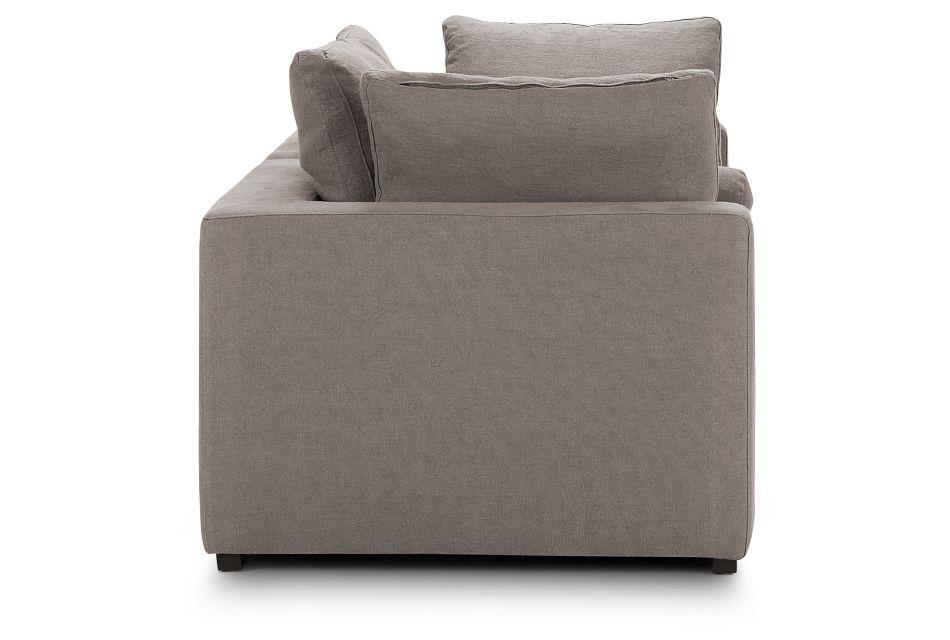 Fiore Gray Fabric Small Loveseat