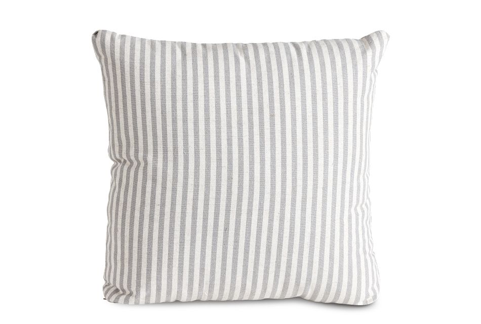 """Scout Gray Fabric 18"""" Accent Pillow,  (1)"""