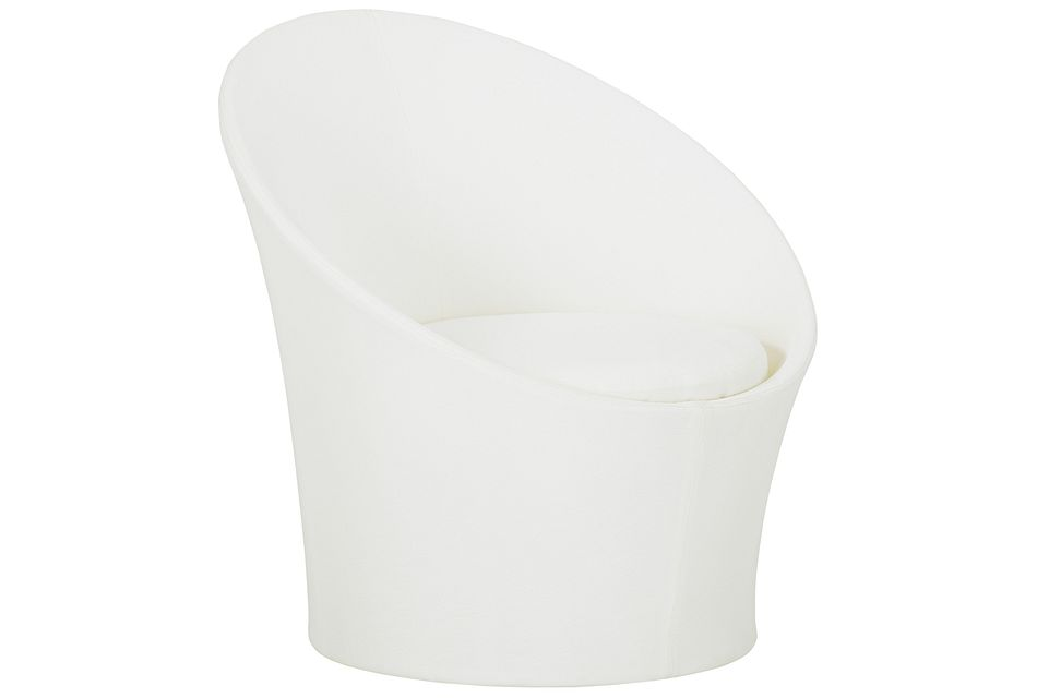Ibiza White Curved Chair
