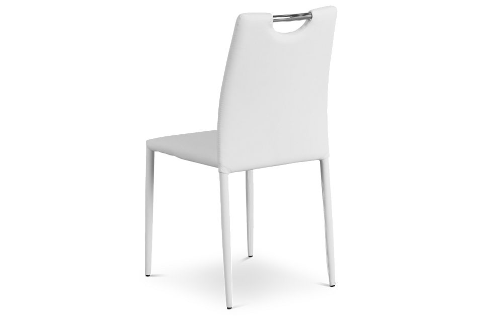 Skyline White Upholstered Side Chair
