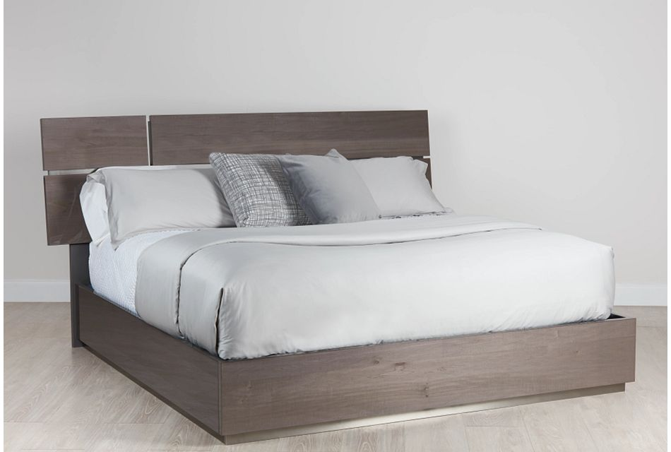 Athena Dark Gray Platform Bed