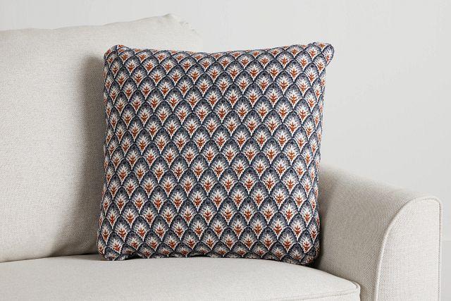 "Morgan Orange Fabric 20"" Accent Pillow (0)"