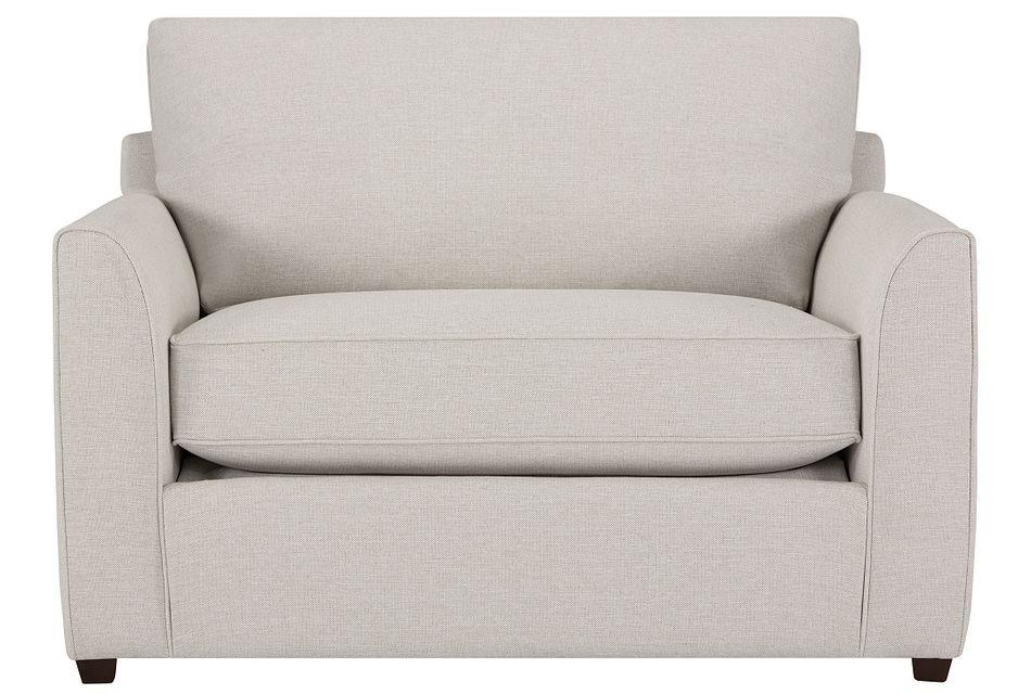 Asheville Light Taupe Fabric Memory Foam Sleeper