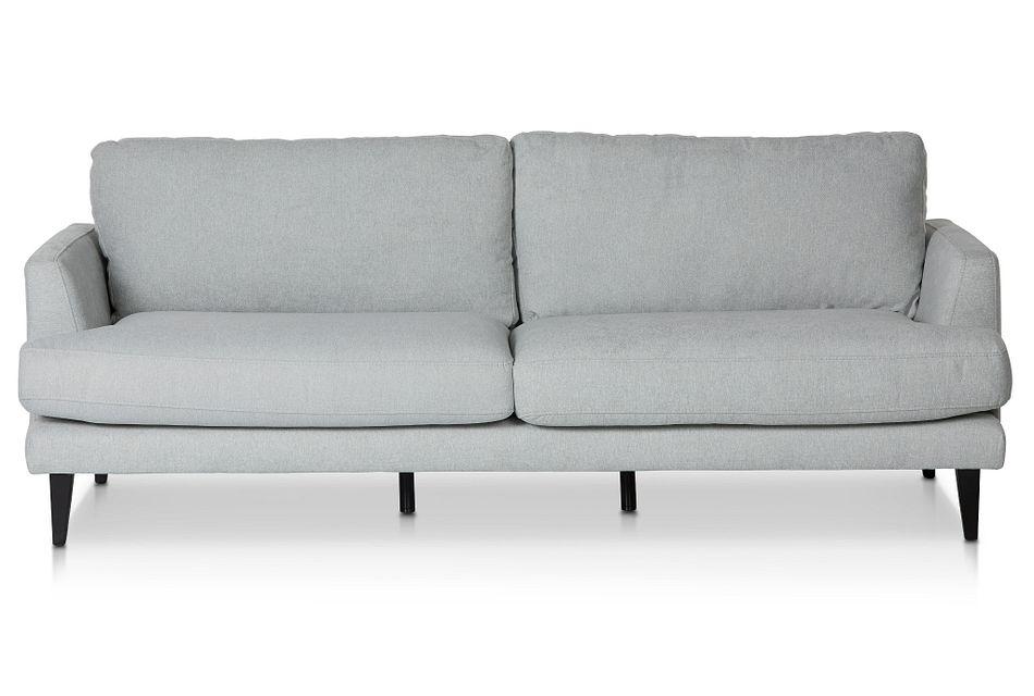 Fremont Light Blue Fabric Sofa