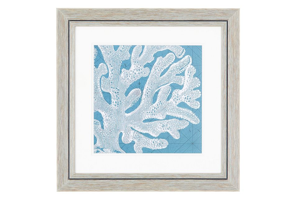 Coral Blue Framed Wall Art