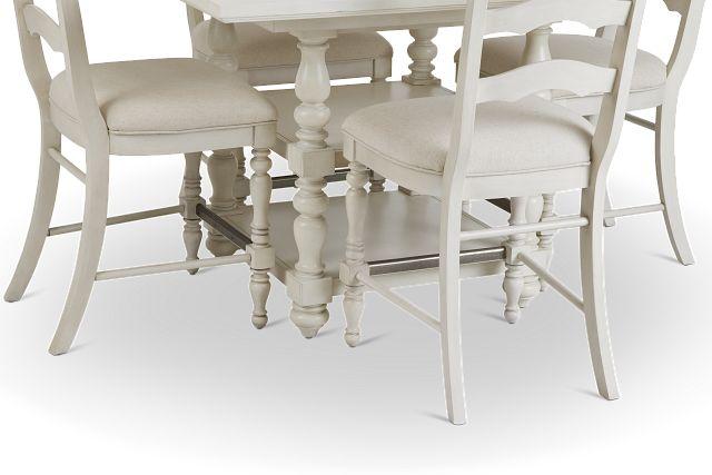 Savannah Ivory High Table & 4 Barstools