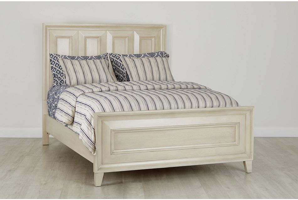 Dawson Ivory Panel Bed, Queen (0)