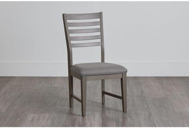 Zurich Gray Slat Side Chair