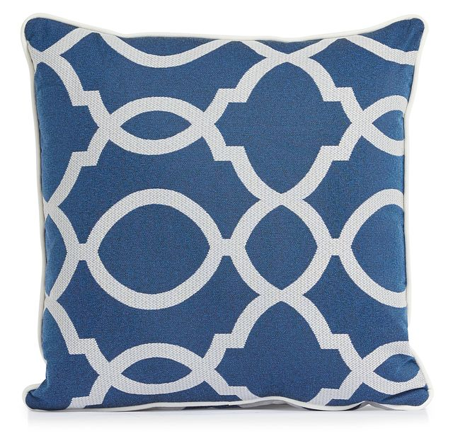 """Clover Blue 18"""" Indoor/outdoor Square Accent Pillow (1)"""