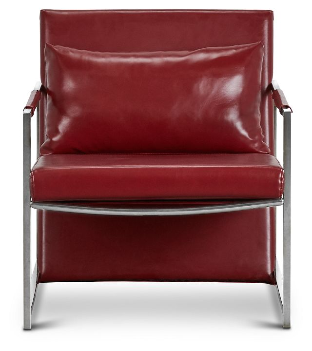 Russell Red Uph Accent Chair (3)