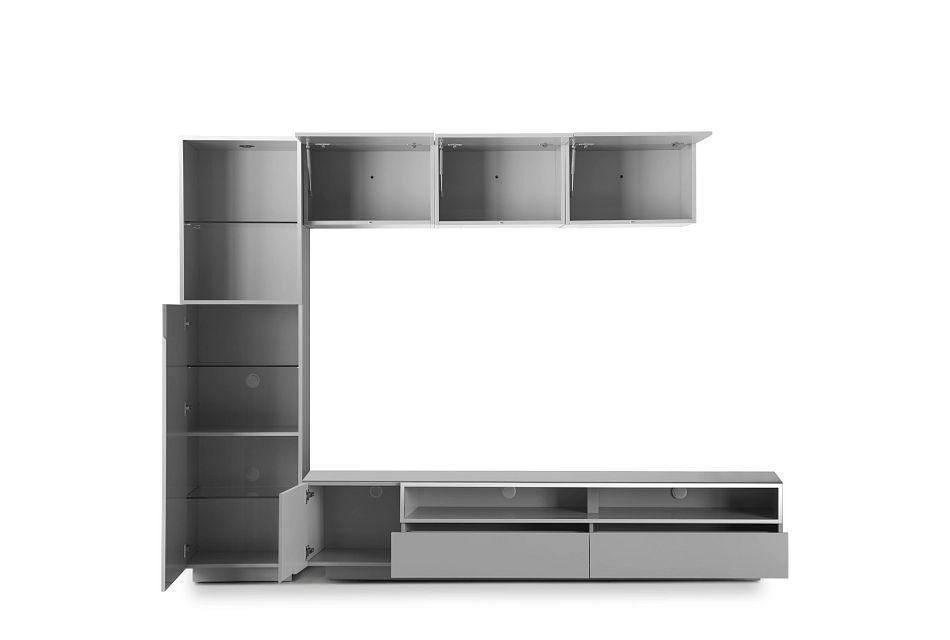 "Vancouver Gray 108"" 5-piece Left Modular Entertainment Wall"