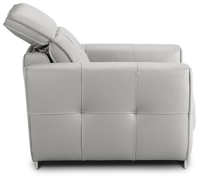 Reva Gray Leather Power Recliner With Power Headrest (3)