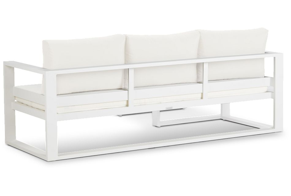 Lisbon White Aluminum Chaise Sectional