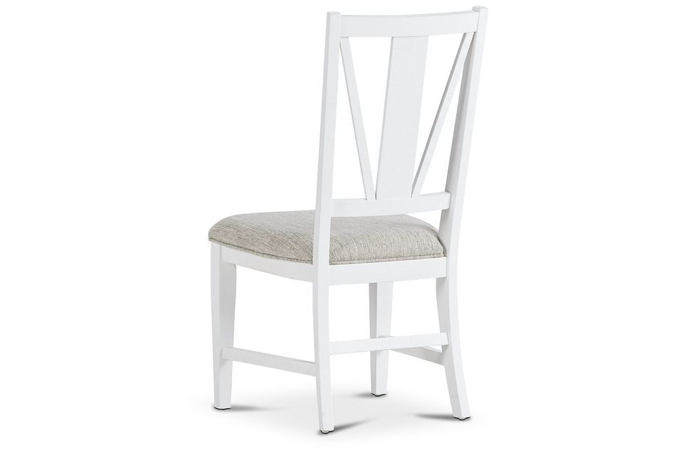 Heron Cove White Upholstered Side Chair