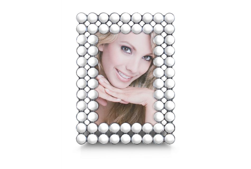 Khloe Silver Large Picture Frame