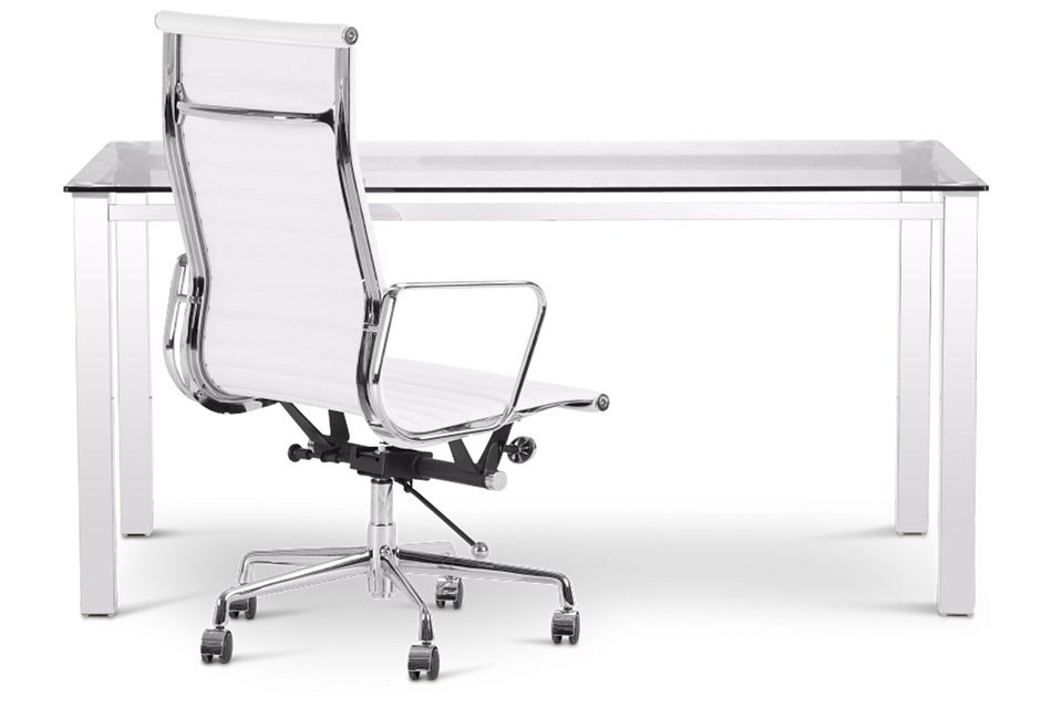 Skyline Glass Desk And Chair,  (1)