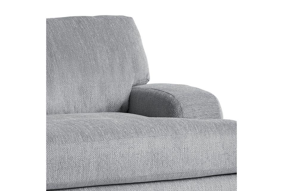 Alpha Light Gray Fabric Chair