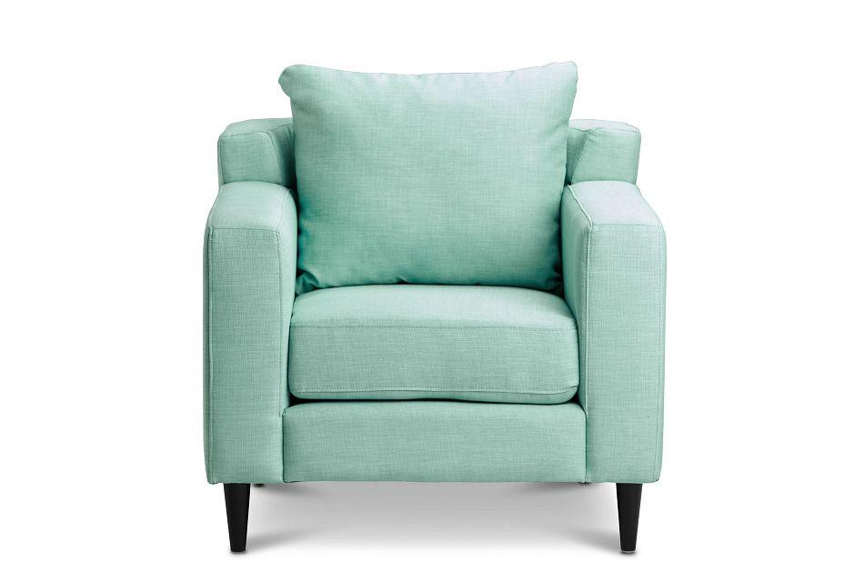 Novara Light Blue Fabric Accent Chair