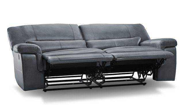 Weston Light Gray Lthr/vinyl Reclining Sofa (3)