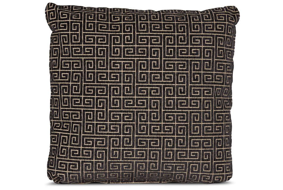 "Keys Black 18"" Square Accent Pillow"