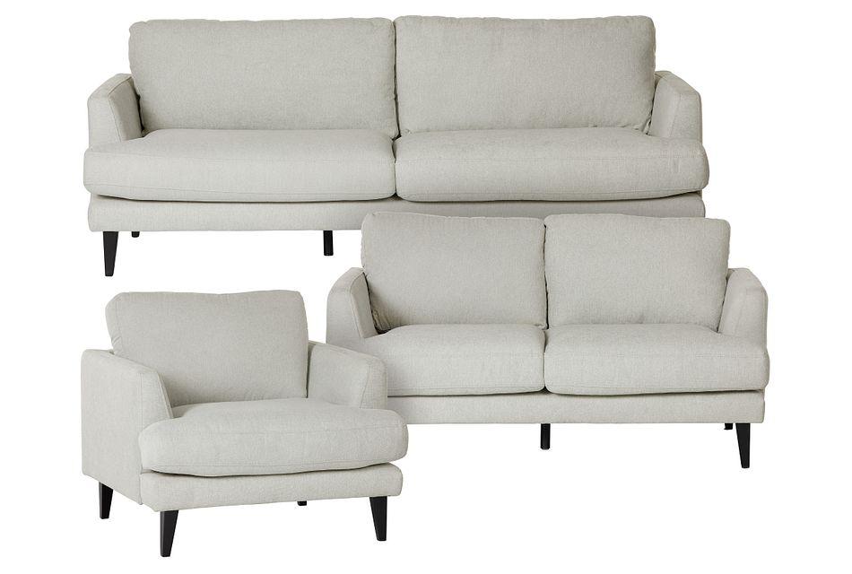 Fremont Light Beige Fabric Living Room