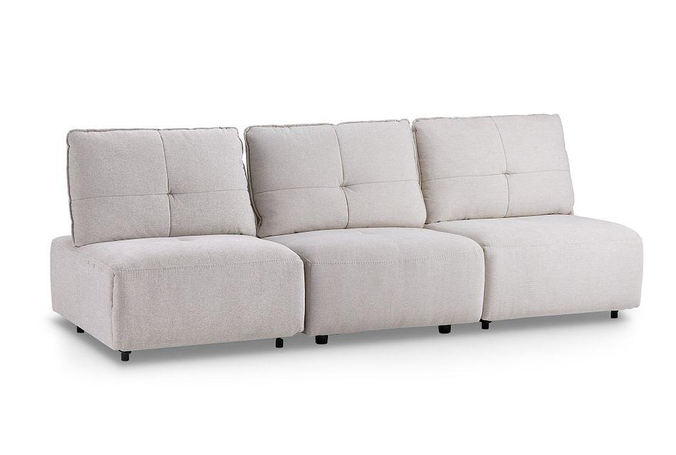 Trice Light Beige Fabric Sofa