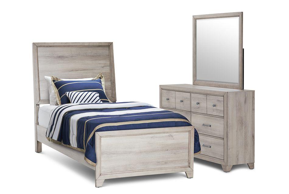 Rivercreek Gray Wood Panel Bedroom