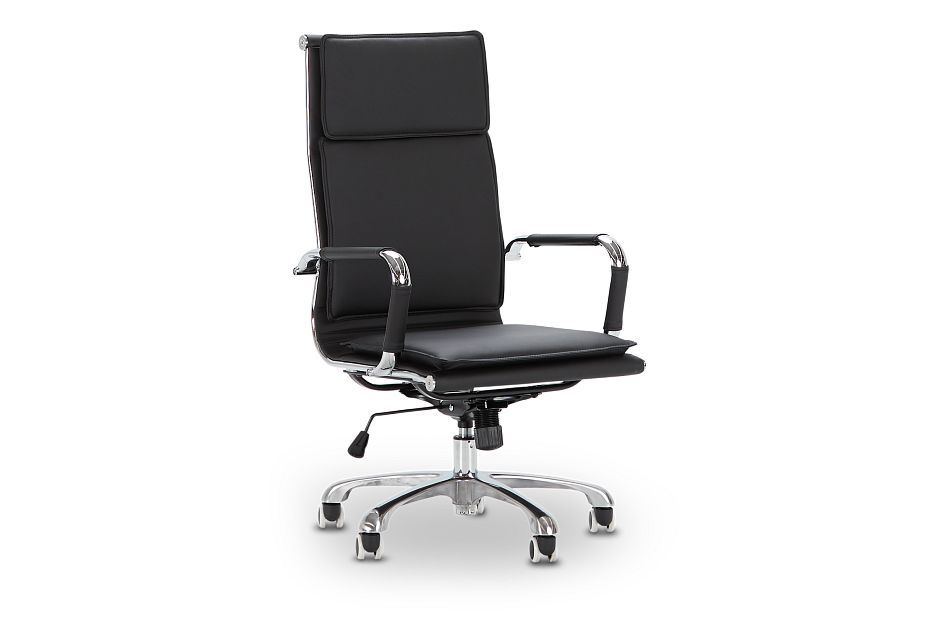 Arvada Black Uph Desk Chair, %%bed_Size%% (1)