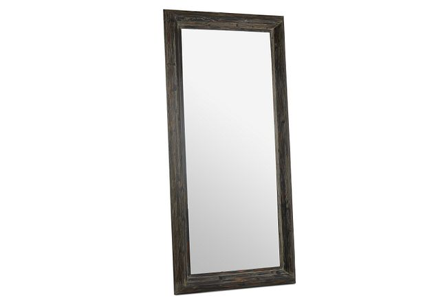 Capri Black Wood Floor Mirror