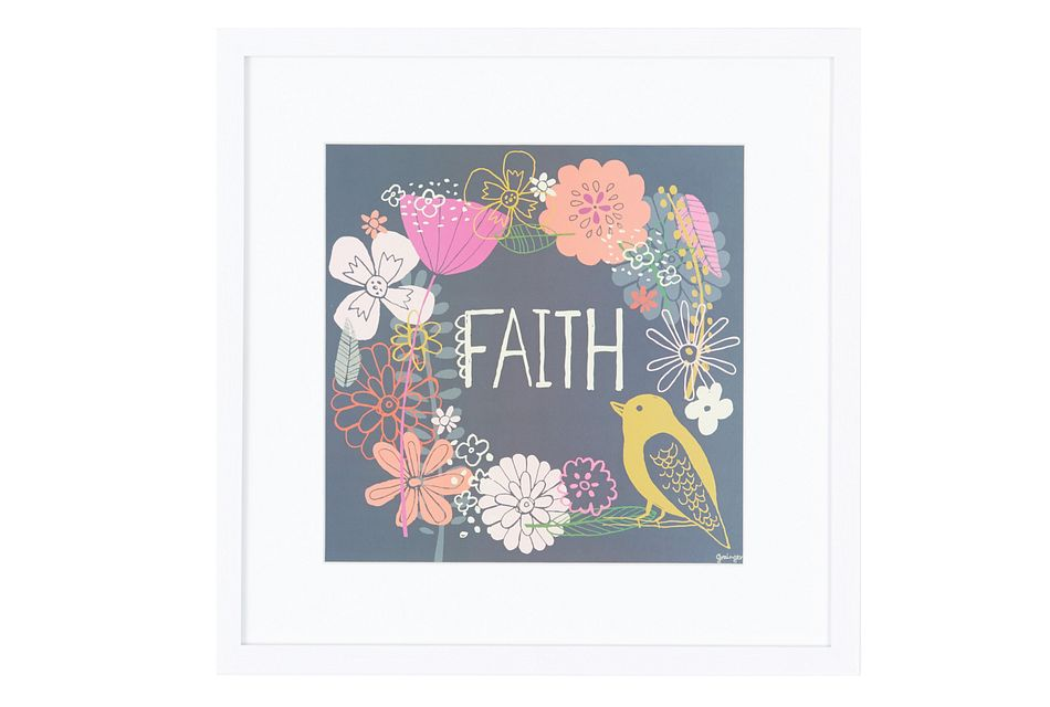 Faith Multicolored Framed Wall Art