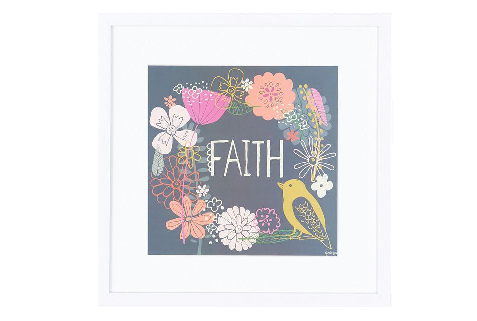 Faith Multicolored Framed Wall Art
