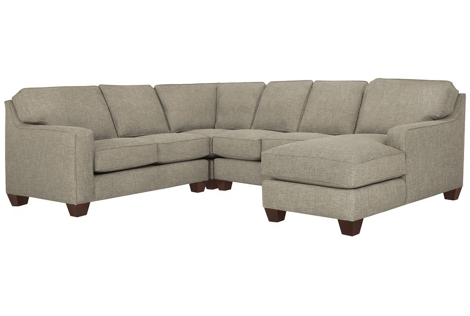 York PEWTER FABRIC Medium Right Chaise Sectional,  (1)