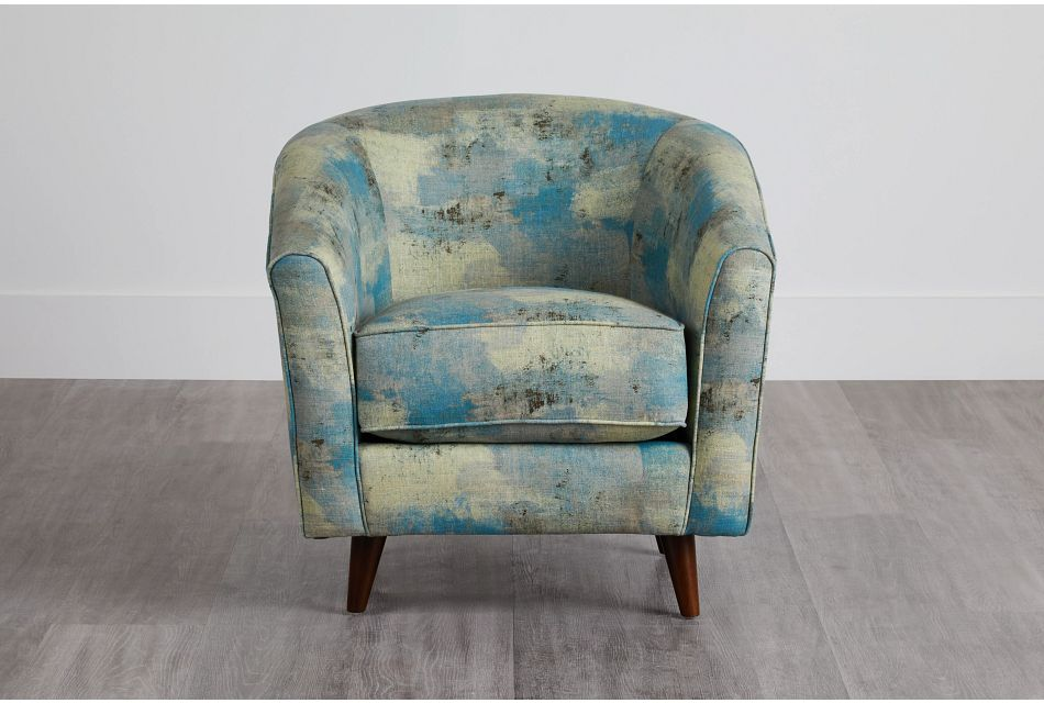 Antalya Teal Fabric Accent Chair,  (0)