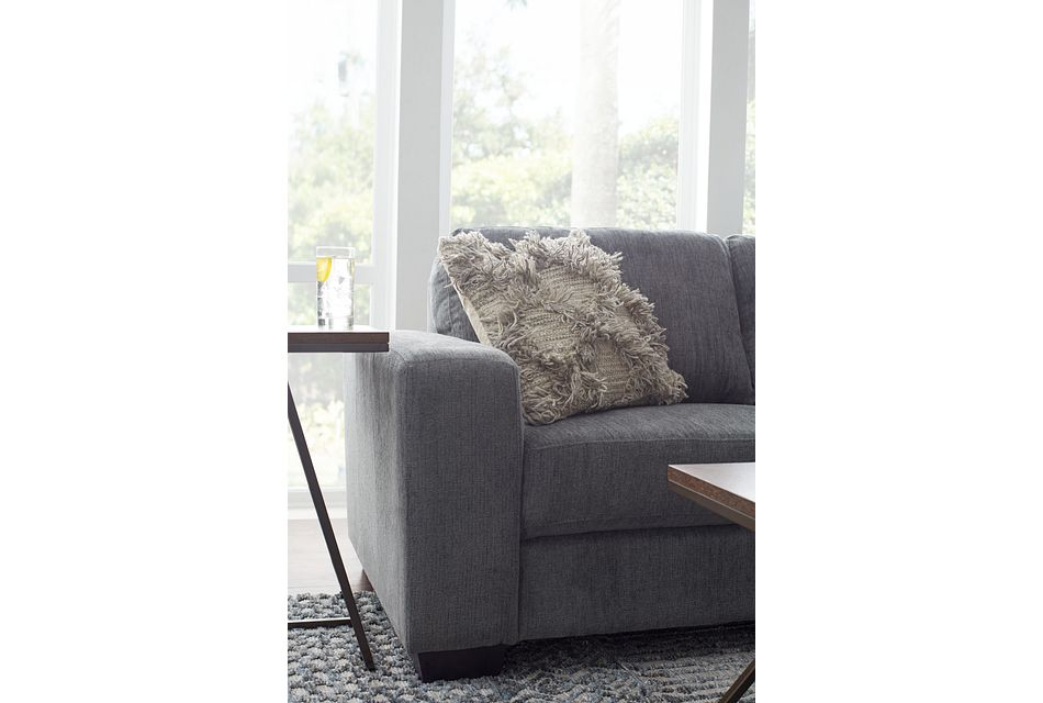 Estelle Dark Gray Fabric Right Chaise Sectional,  (3)