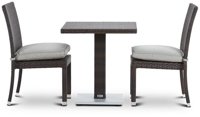 """Zen Gray 27"""" Square Table & 2 Chairs (0)"""