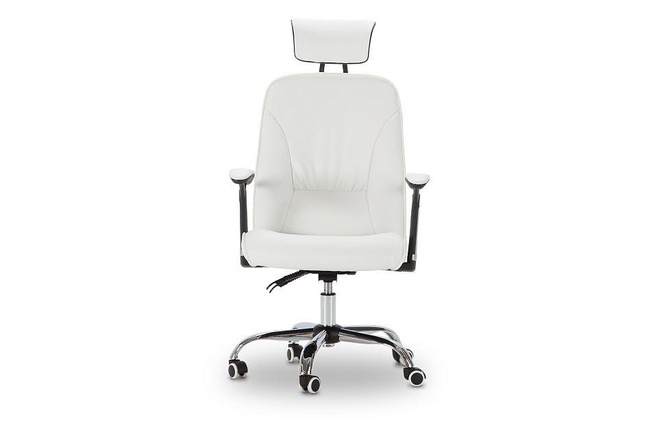 Aurora White Uph Desk Chair, %%bed_Size%% (3)