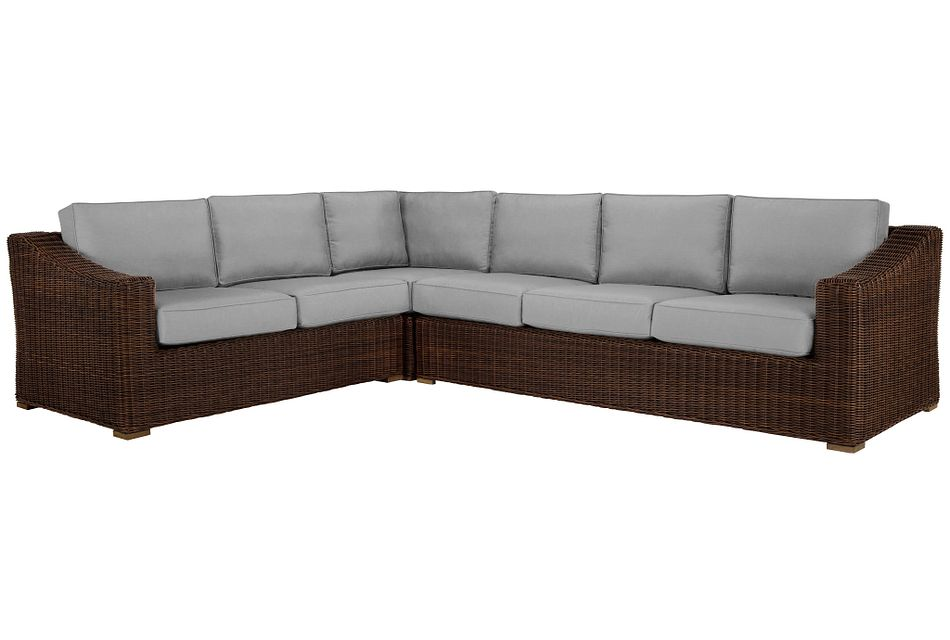 Canyon Dark Brown Gray Medium Right Sectional