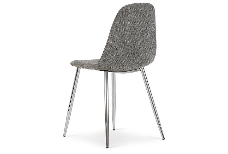 Havana Dark Gray Upholstered Side Chair W/ Chrome Legs