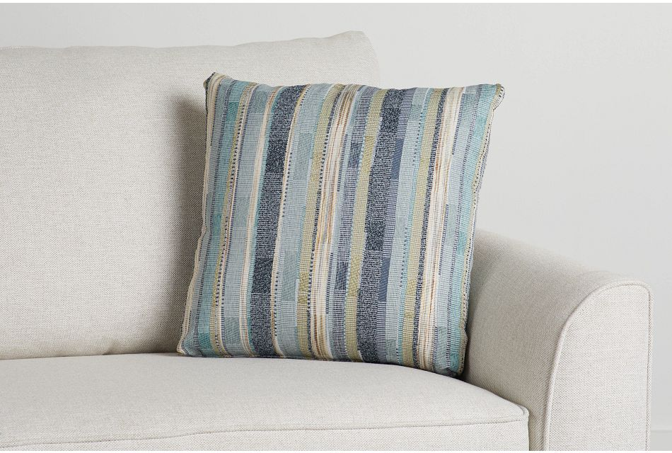 """Forbode Blue Fabric 18"""" Accent Pillow,  (0)"""