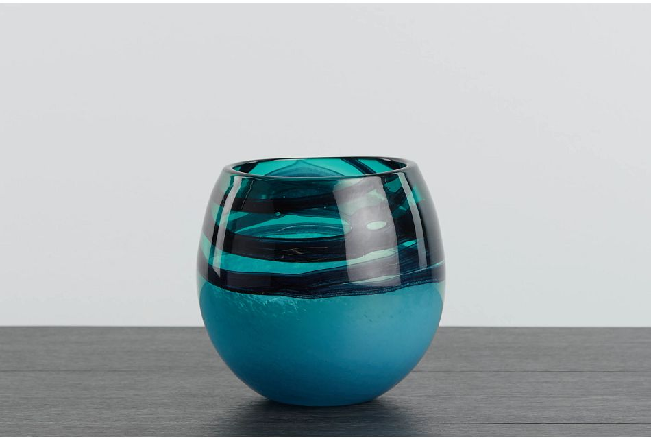 Tedi Dark Teal Vase