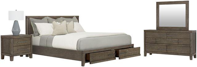 Bravo Dark Tone Wood Platform Storage Bedroom (2)