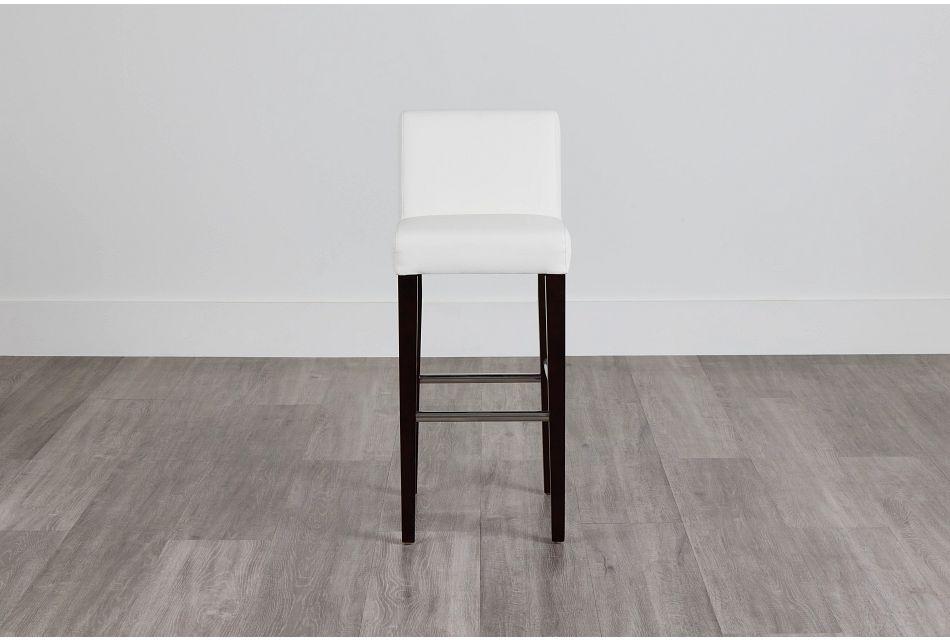 "Cane Whitemicro 30"" Upholstered Barstool,  (0)"