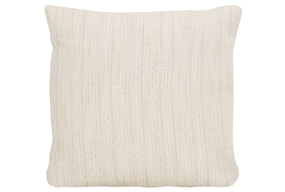 Brisbane Light Beige Fabric Square Accent Pillow
