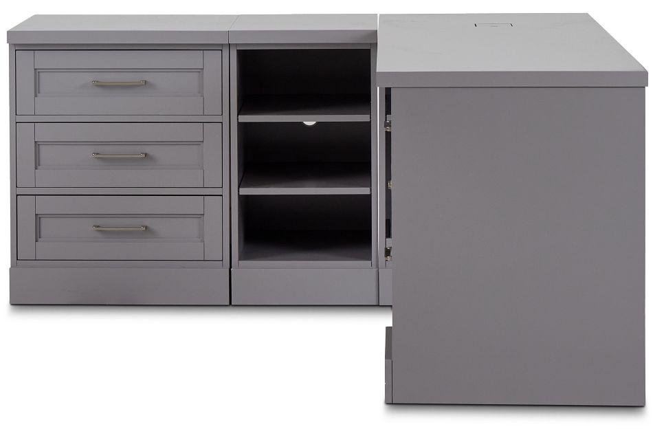 Newport Gray L Desk,  (1)