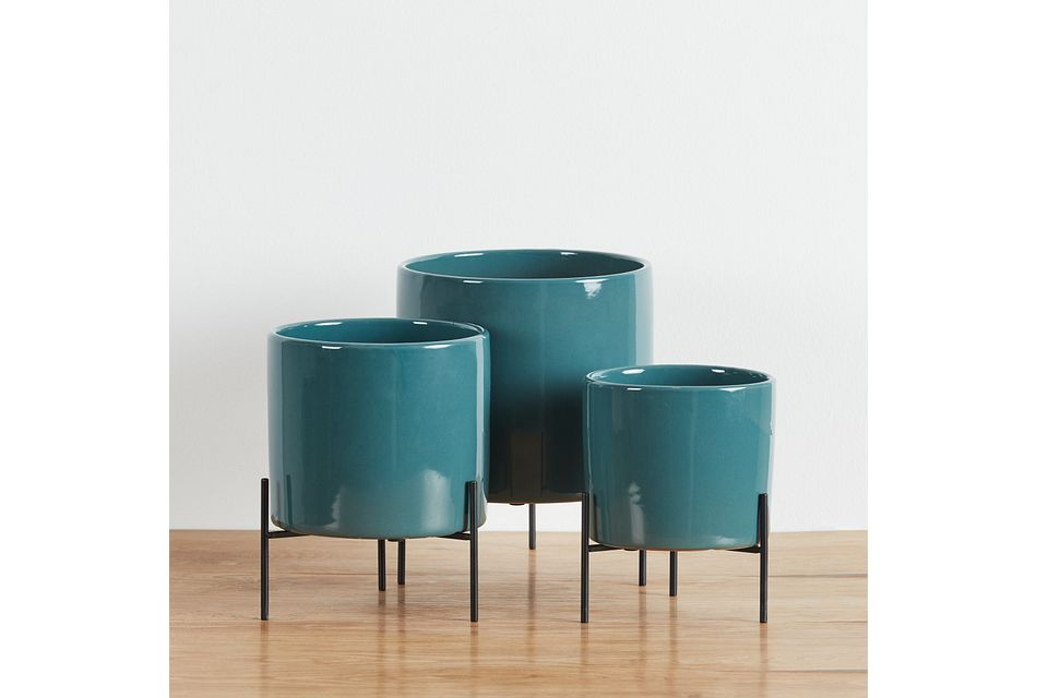 Chi Chi Green Set Of 3 Planter