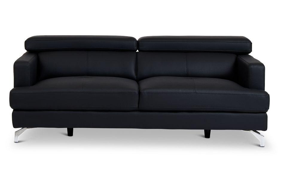 Marquez Black Micro Sofa,  (1)