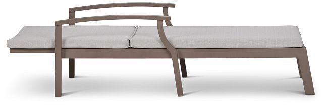 Raleigh Gray Aluminum Cushioned Chaise (2)