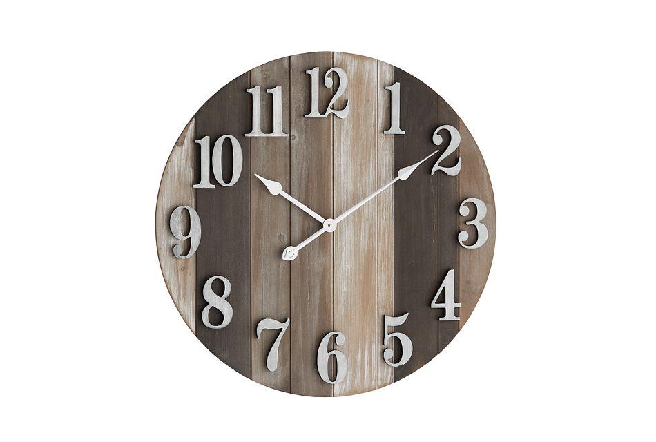 Brooks Brown Wall Clock