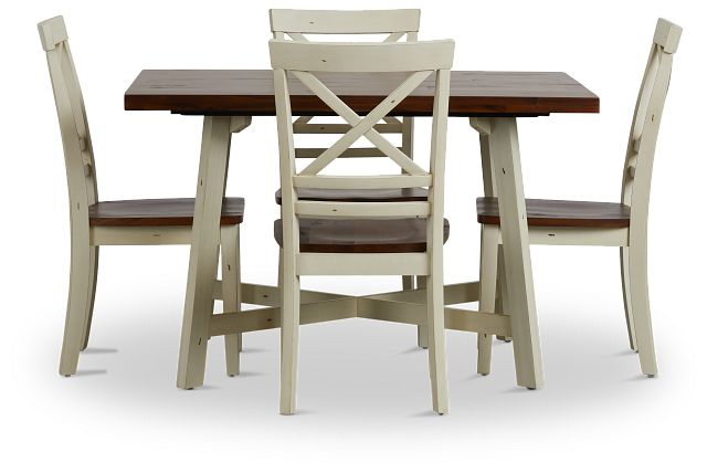 Amelia Two-tone Rect Table & 4 Chairs (3)